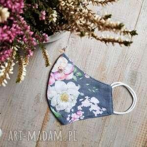 Maseczka bawełniana kobieca kwiaty maseczki maart maseczki