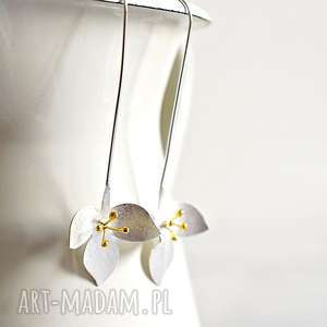 925 srebrne kolczyki kwiaty, kwiat, srebro, srebrne, minimalistyczne, natura