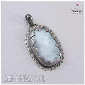 Larimar i srebro - wisiorek 2903, larimar, srebro, wisior-srebrny, z-larimarem