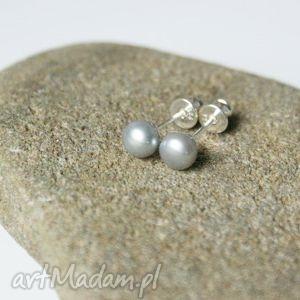 kolczyki wkrętki perły naturalne, kolczyki, wkrętki, srebrne, perły, naturalne