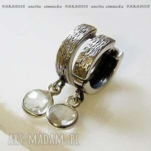 Srebro, kolczyki - limitowana seria, kryształ w srebrnej oprawie