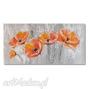 maki, nowoczesny obraz ręcznie malowany, kwiaty, obraz, nowoczesny