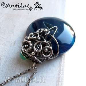 Circle - Agat, chalcedon, srebro oksydowane, agat,