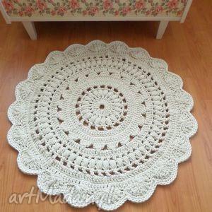 DYWAN WYKONANY RĘCZNIE NA SZYDEŁKU 85 CM, dywan, dywany, dywanik, chodnik, dywaniki
