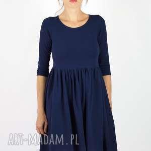 Sukienka Baby Doll, granatowa-sukienka, sukienka-kobieca, niebieska, elegancka