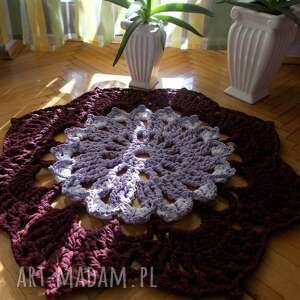 dywan lawendowy, sznurek bawełniany