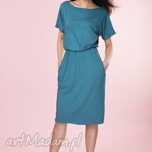 Uniwersalna sukienka z kieszeniami Provance, sukienka, uniwersalna, midi, dzianina