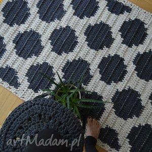 hand-made dywany dywan w kropki