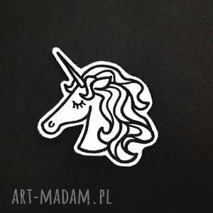 naszywka unicorn - ,naszywka,unicorn,jednorożec,haft,filcowa,haftowana,