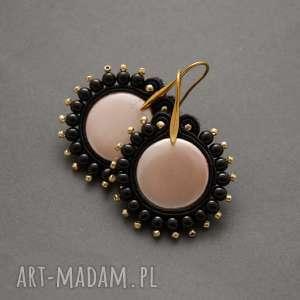 kolczyki sutasz z perelkami seashell, sznurek, perły, wiszące, perłowe