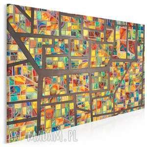 Obraz na płótnie - witraż kolorowy szkiełka 120x80 cm 72801 vaku