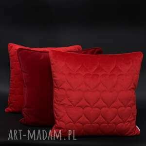 poduszki velvet, aksamit, komplet czerwień 45x45cm, poduszek, zestaw