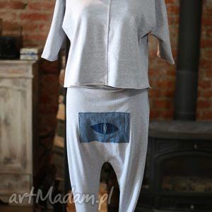 spodnie komplet w melanżu, dresowy, bluza, spodnie, alladyny, melanż