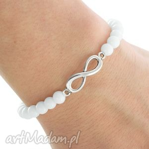 simply charm - white jade with infinity - jadeit