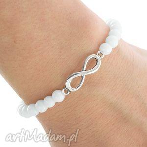 SIMPLY CHARM - WHITE JADE WITH INFINITY. - ,jadeit,nieskończoność,infinity,
