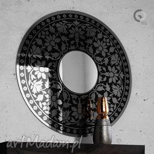 Duże okrągłe lustro dekoracyjne do salonu, sypialni, jadalni, lustro, dekoracja
