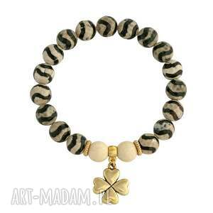 tibet agate - beige & black 4 - jadeit