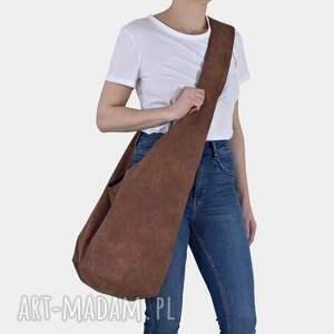 ruda torba hobo w stylu boho / long boogi bag - do noszenia przez ramię, duża