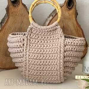 damska torebka koszyk handmade, damska, szydełkowa
