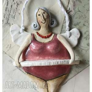 pod choinkę prezent, ceramika aniołek baletnica, ceramika, anioł