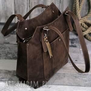 0690d4b43e163 hand-made na ramię ręcznie robiona skórzana torebka brązowa