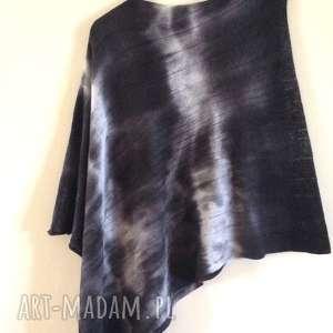 Prezent Grafitowe cieniowane wełniane ponczo, wełniane, prezent, sweter
