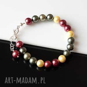 Kolor - bransoletka, perły, seashell, srebro, bransoletka