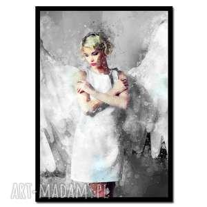 obraz w ramie anioł 2r - 73x52cm drukowany na płótnie loft, obraz, rama