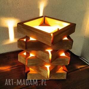 lampa drewniana, lampka z drewna /4/, lampa, lampka, drewno