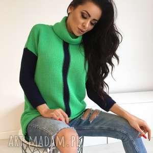 Luźny miękki sweter z golfem , tunika. sweter, golf, ciepły, luźny, wygodny