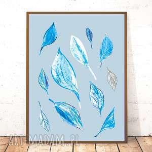 21x30 cm plakat pastelowy, nowoczesny plakat, liście skandynawski
