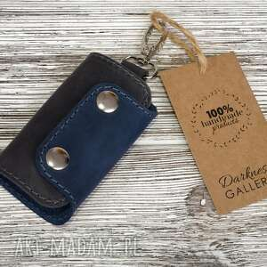 breloki ręcznie robione skórzane etui na klucze-brelok, klucze