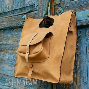 torba skórzana ręcznie robiona, torba, torebka, duża teczka, skóra naturalna