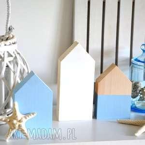 3 domki drewniane - domek, domki, drewniane, drewna, morze, morski