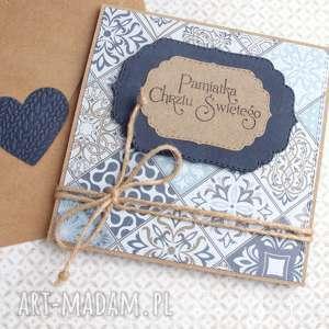 Pamiątka Chrztu Świętego :: kartka handmade : blue, chrzest, chrzciny