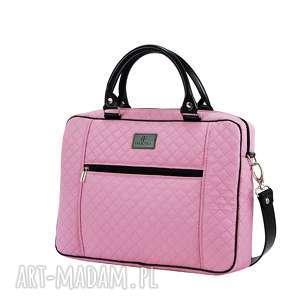 torba na laptopa 1221 - pikowana, elegancka, laptopowa