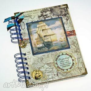 pamiętnik/ notatnik- zapiski marynarza, notes, morze, żaglowiec, zapiśnik, notatnik