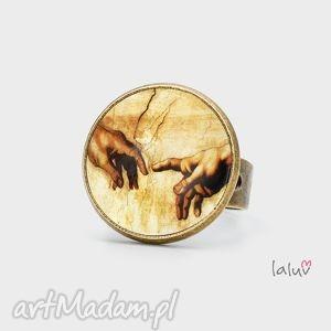 pierścionek stworzenie adama, fresk, ręce, reprodukcja, religia, grafika