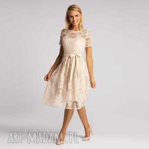 sukienka alexis midi josefina vanillia, midi, koronka, elegancka