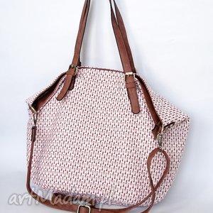 XXL torba na ramię z czerwienią, torba, torebka