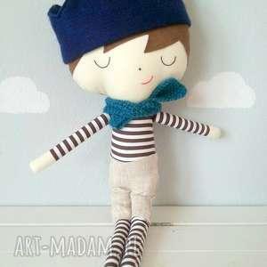 Książe z szaliczkiem, przytulanka, chłopiec, lalka, filc, bawełna,