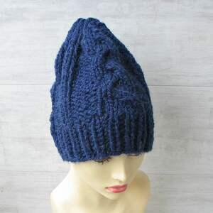 Mega gruba czapka alpaka na zamówienie czapki albadesign alpaka
