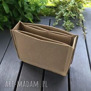 wysoki wkład filcowy do torebki - beżowy, torebki, organizer