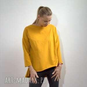 szary mary bluza oversize z długim rękawem, bluza, oversize, musztarda