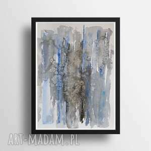 abstrakcja-praca formatu 24/32 cm, abstrakcja, papier, akwarela, tusz