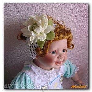 opaska dla dziewczynki z kwiatuszkiem, prezent, dziewczynka, kwiaty