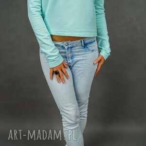 prezent na święta, bluza mint shorty, miętowa, bluza, krótka, wygodna, casual