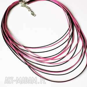 naszyjnik sznureczki - naszyjnik, sznurki, jubilerskie, stopniowany, delikatny, oryginalny