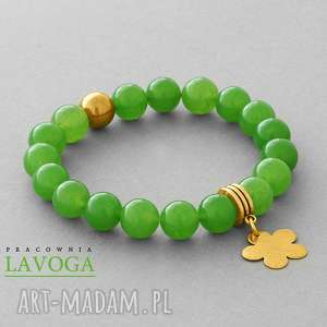 jade with pendant in green - zawieszka kwiatek