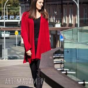 ręcznie robione swetry czerwony kardigan